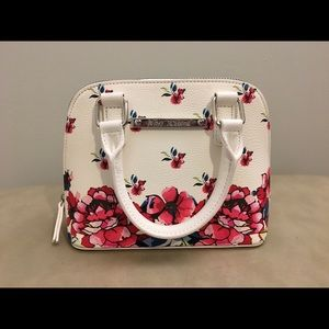 Betsy Johnson mini dome satchel floral pattern
